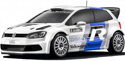 Volkswagen prépare son retour en championnat du monde des rallyes WRC avec sa VW Polo. Ce concept-car VW Polo R WRC Concept de 2011 présente cette voiture, qui sera développée (et conduite en 2013) par le Français Sébastien Ogier .